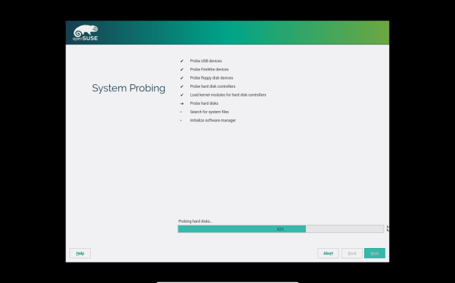 openSUSE - System Probing