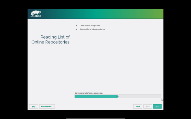 openSUSE - reading list of repositories