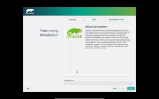 openSUSE - Installation progress
