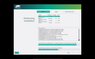 openSUSE - Installation progress details