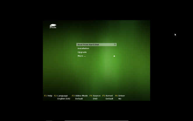 openSUSE - Boot from Hard Disk