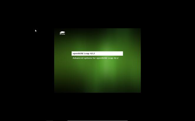 openSUSE - Boot menu